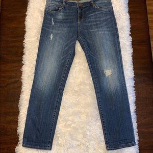 Kut from the Kloth Sz12 Distressed Boyfriend Jeans